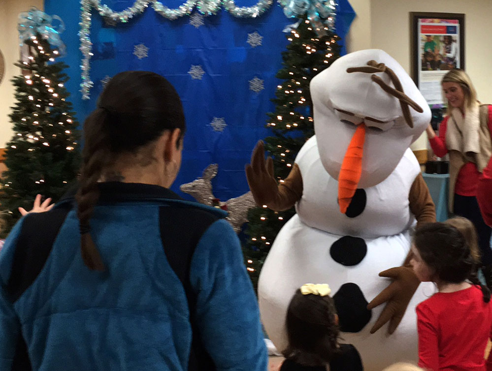 Frozen Party Characters for Hire, Rent Olaf the Snowman Character