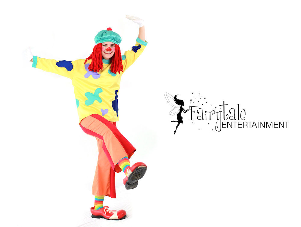 rent jojo the clown from Disney Playhouse, hire jojo circus clown for kids parties, rent a clown entertainer, hire a clown prices, rent a clown costume, clown for kids, clown for rent