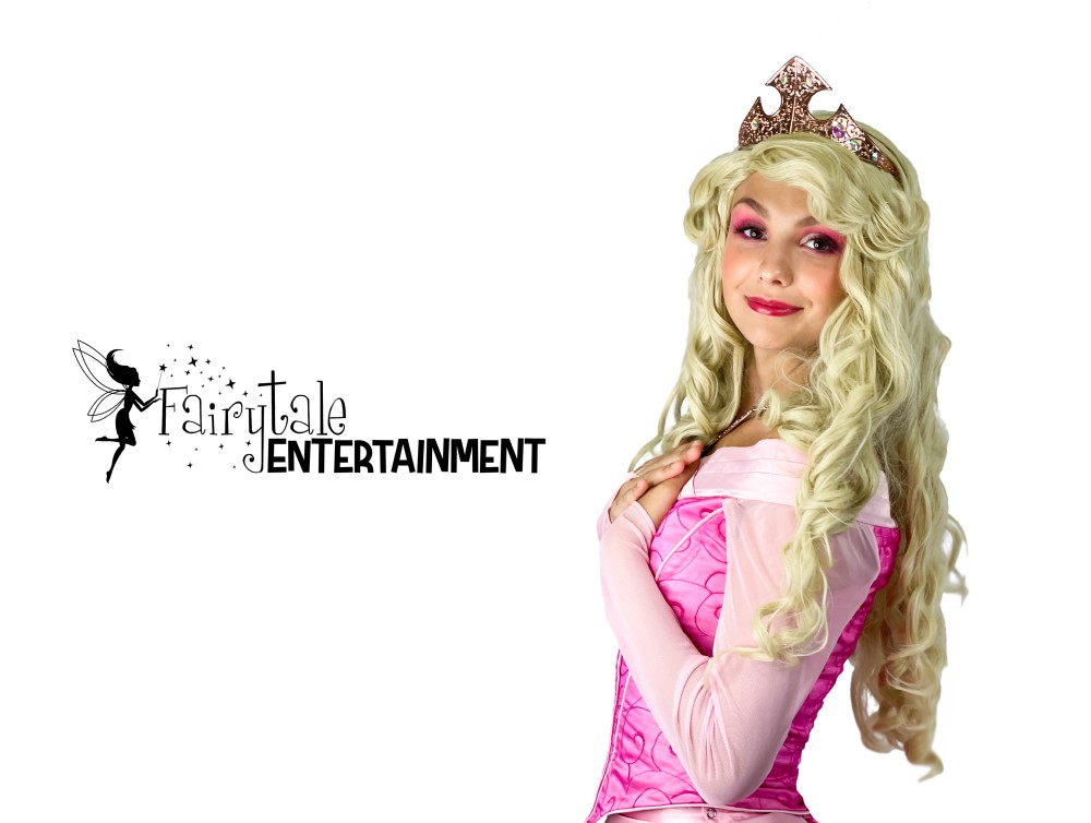hire sleeping beauty princess party character for girls birthday party