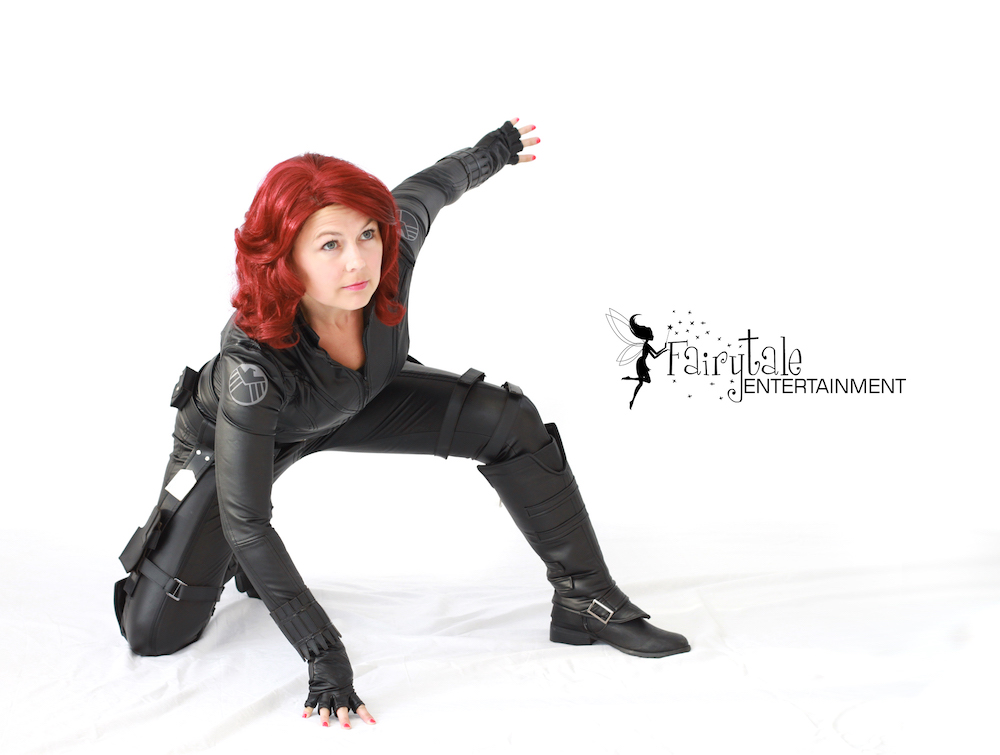 Hire Black Widow for kids party, Marvel Avengers Black Widow Character Performer,