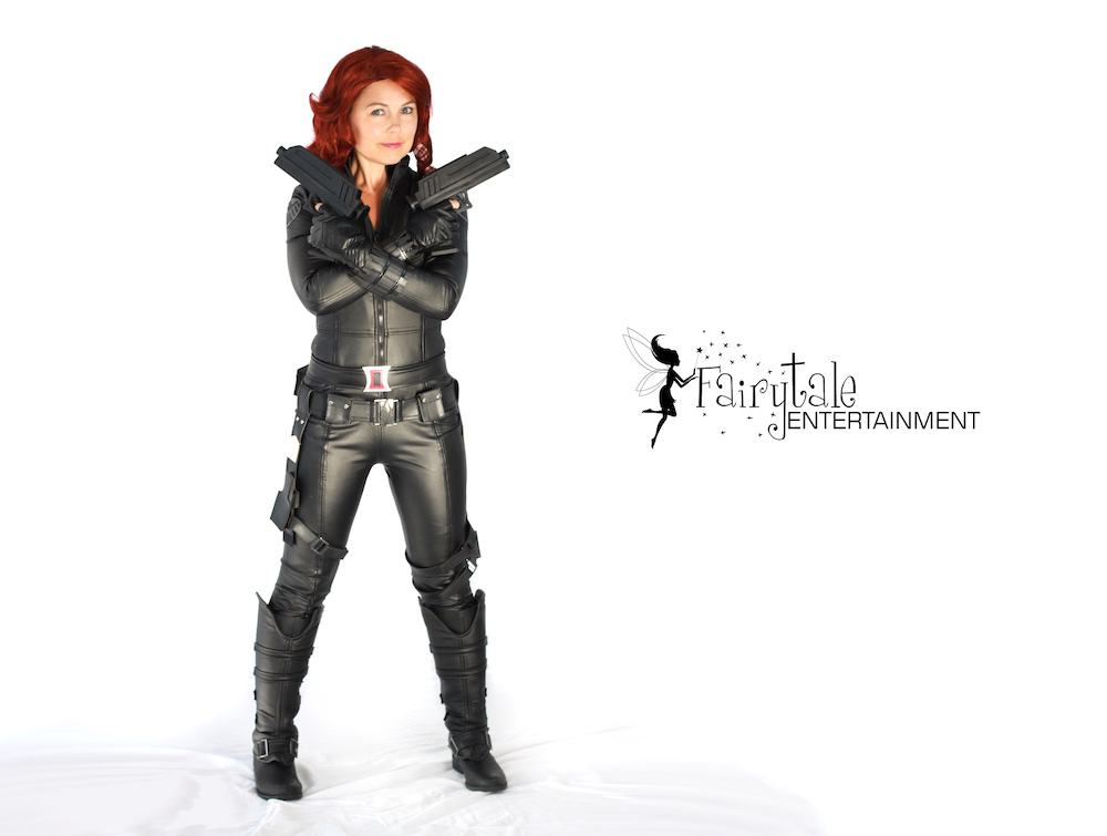 Black Widow Birthday Party Character